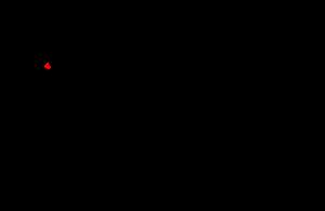 Bóveda celeste con el cenit marcado (justo arriba del observador)