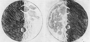 Imágenes de la Luna dibujadas por Galileo