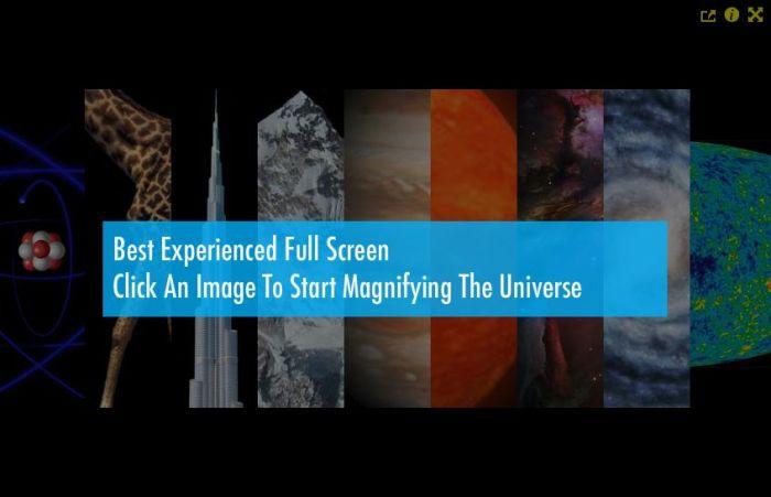 Captura de pantalla de la animación Magnifying the universe (Fuente)