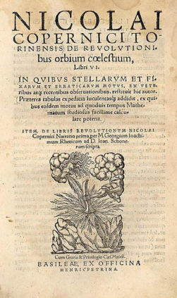 """Portada """"De revolutionibus orbium caelestium"""""""