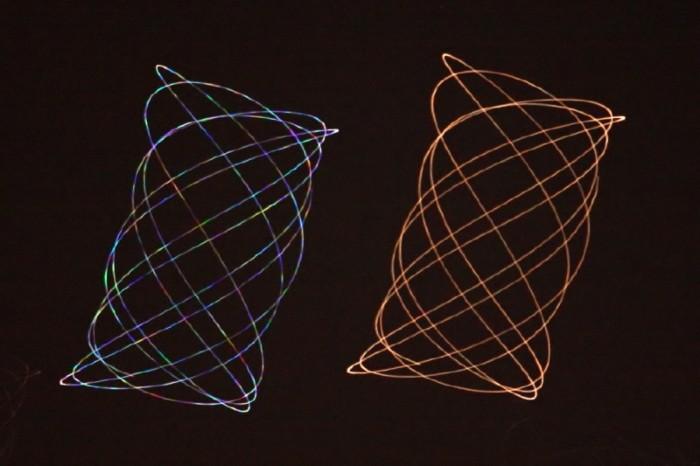 Diferencia de brillo entre una estrella (Régulus) y un planeta (Marte)