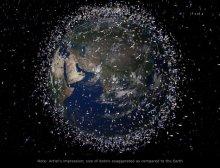 Residuos en órbita terrestre (Fuente)