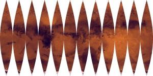 Proyección para globo de Marte
