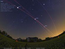 La danza de los planetas sobre la sede ESO, cerca de Munich (Fuente)