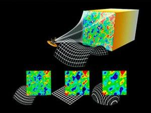 Distintos resultados de la radiación de fondo se corresponden con distintas geometrías (Fuente)