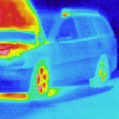 Termografía de un vehículo