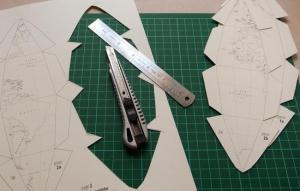 Recorta la plantilla para construir tu globo terráqueo de papel (Fuente)