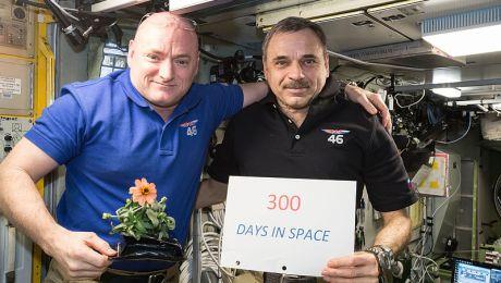 Foto de Scott Kelly y Mikhail Kornienko para astrodidáctica